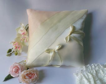 Blush Pink and ivory ring bearer pillow