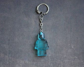 Key shaped toy snowman resin Turquoise