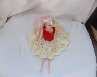 Top estivo per barbie manica corta colore azzurro intenso in - Barbie senza colore ...