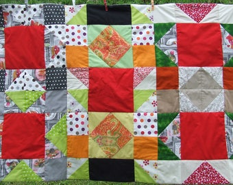 Plaid decoratf handmade patchwork