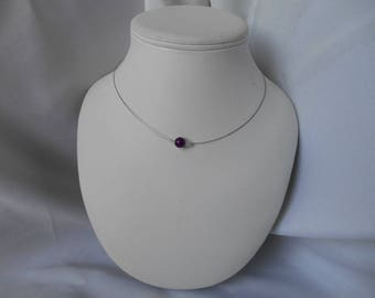 Classic Bead Necklace magical purple and Swarovski