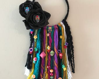Dia de los Muertos (day of the dead) dreamcatcher