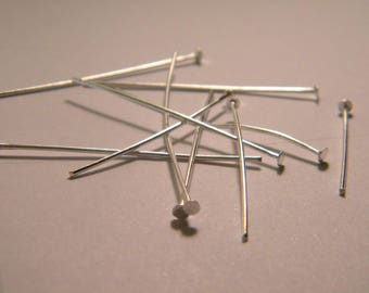 100 nails a flat head pin silver 16 mm to 50 mm x 0.7 mm B4