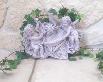"""decoration to hang,"" Angels ""old patina"