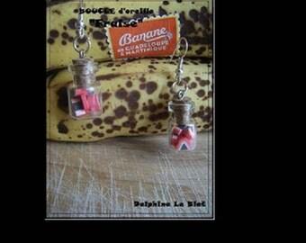 """""""Strawberry jar"""" earrings"""