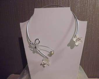 collier de mariée en fil d'aluminium
