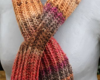 scarf-shades of Brown