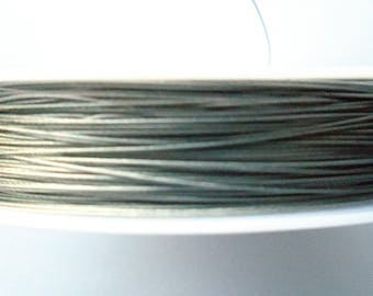 Silver color twisted wire of 0.38 mm in diameter / lot 50 cm