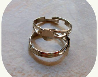 Support Adjustable ring of 56-62. Silver plated