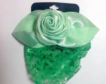 Green Single Rose Snood