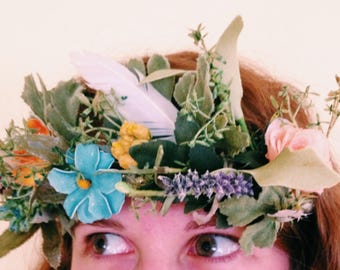Wildflower Feather Crown