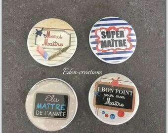 A Badge master 4,4 cm, personalized gift, teacher, teacher gift badge
