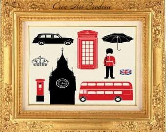 London counted cross stitch