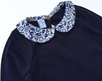 Shirt collar liberty blue Bobo - 4t