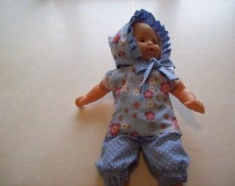 crush on infants or dolls of 30 cm tidoo, hug:, cotton print