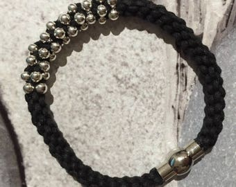 Black and silver beads