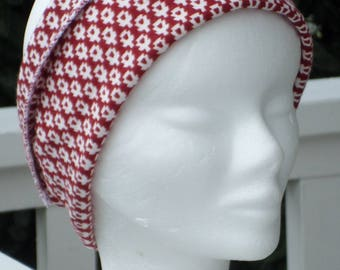 fashionable headband headband earmuffs linen ' eva red and white