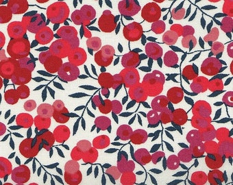 coupon design LIBERTY wiltshire red fabric
