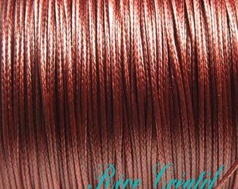 5 meters Korean Wax Polyester Cord, Burgundy color, 0.5mm