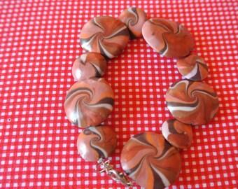 Brown swirl bracelet