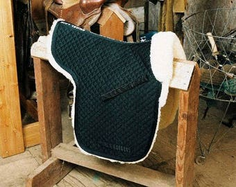 Saddle Pads Dressage Numnah Completely Lined W/Pommel Roll 3 Colors