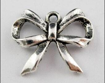 3 pendants, charms silver knots - 20 x 17 mm