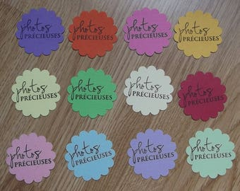 12 cutouts for your scrapbooking creations scalloped round tags.