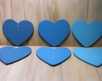 WOOD BLUE CONCH 50MM WEDDING - VALENTINE HEARTS