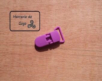 Clip (2 cm) KAM pacifier clip. Violet B56.