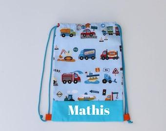 sac à  dos enfant personnalisé ou sac à doudou pour l'école maternelle ou la crèche, pe bag