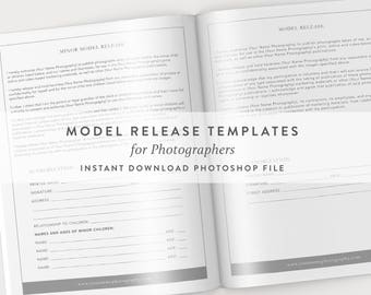 Photography Model Release, Photography Template, Minor Model Release, Model Release Template, Photography Contract Templates, Business Forms