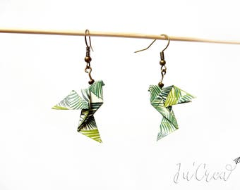 Origami Dove jungle earrings