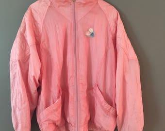 Baby pink nylon jacket