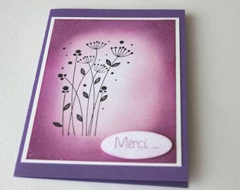 Purple gradient tones thanks card