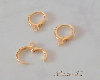 Hoop earrings - 14 K gold plated