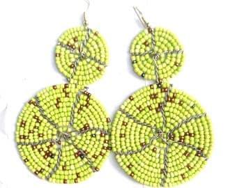 Beaded Earrings, Beaded Hoop Earrings, Handmade Beaded Earrings, Native American Beaded Earrings, Seed Bead Earrings, Beaded Earring Designs