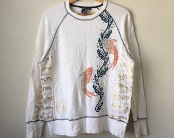 Vintage Sukajan Japanese Brand Printed Design Swwatshirt