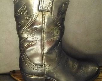 Solid Brass Cowboy Boot