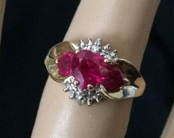 10k Gold and Ruby Ring
