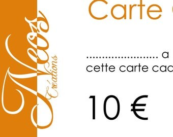 Gift voucher worth € 10 card