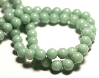 10pc - stone beads - Jade balls 8mm Green light Amande Pastel - 8741140016101