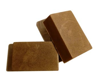 Soft Espresso Luxury Soap made with Activated Charcoal & Goat's Milk (Double Pack)