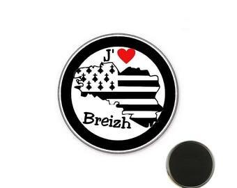 Brittany magnet - I love breizh 25 mm