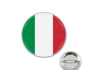 Italy flag - 32mm Badge button