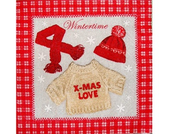 Set of 3 napkins NOE113 winter clothing