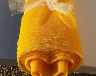 Sunshine yellow soft tulle width 150 cm