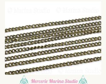 10 m chain bronze mesh horse 3 x 2, 2mm