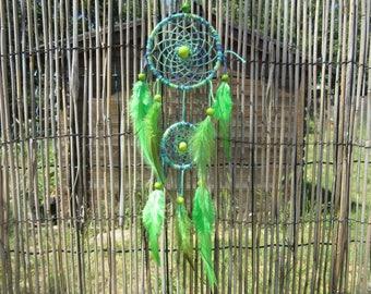 Catch dreams tones green / real 32 cm