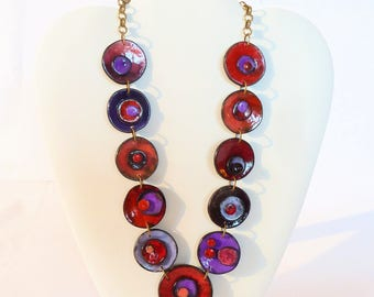 Comet polymer clay necklace and earrings available