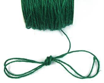 Dark, 2 mm Green hemp cord
